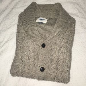 Oatmeal Cable Knit Cardigan Sweater